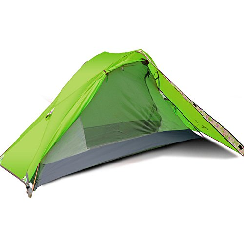Flytop Single Person and Single door Tent Outdoor 1 Man Tent for Trekking/Riding/Hiking/Camping/Waterproof (GREEN)