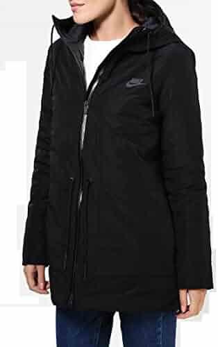 cb6bf1bf6310 Nike Women s NSW Down Fill Parka Jacket w Hoodie 805080-010 (Small)