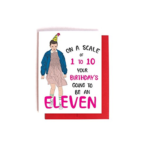 Stranger Things Eleven Birthday Card