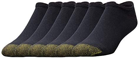 Gold Toe Men's 656f Cotton No Show Athletic Socks, 6 Pairs