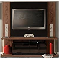 Manhattan Comfort Delacorte Entertainment Center, Mocha and Black
