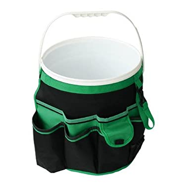 Apollo Precision Tools DT0825 Garden Tool Organizer, Black/Green, 5-Gallon Bucket