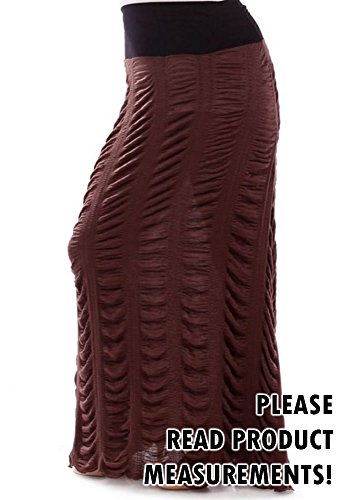 Plus Size Comfortable Wide Waistband Ruched Parachute Maxi Skirt (3X)