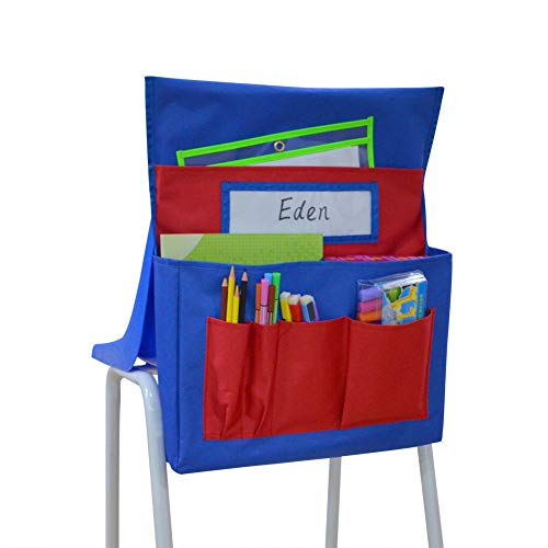 Kruideey Chairback Buddy Pocket Chart (Blue + Red) (Chart Chair)