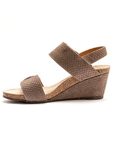 Balsamik - Sandalen aus Leder mit doppeltem Klettverschluss - Damen - Size : 41 - Colour : Taupe