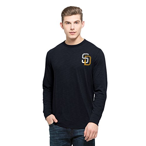 '47 MLB San Diego Padres Men's Stadium Long Sleeve Scrum Tee, Small, Fall (San Diego Padres Stadium)