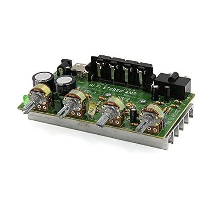 DealMux DC 12V-15V 200W Hi-Fi Audio Board Amplificador de potência para a
