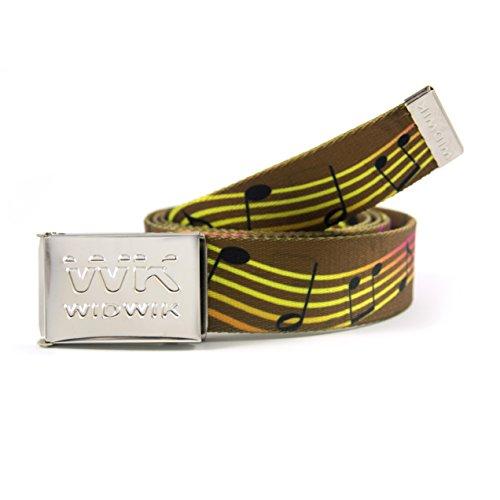 cf4ea92919c7 Cinturón Marrón con dibujos de Notas Musicales para hombre