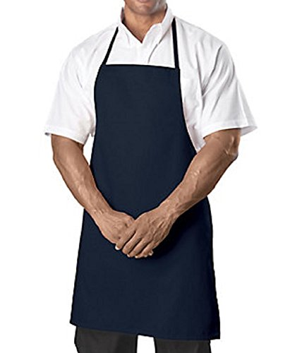 (Bib Aprons-Navy Blue-12 Pc (1 Dz) Pack-new Spun Poly-commercial Restaurant)