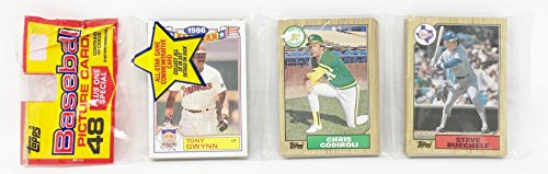1986 Unopened 48 Count Baseball Rack Pack + 1 All Star Commemorative Card - Tony Gwynn San Diego Padres (49 Total Cards)
