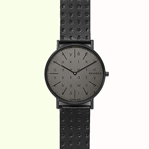 Skagen Men's Signatur Slim Alphabet Print Titanium Case - SKW6490 Black One Size