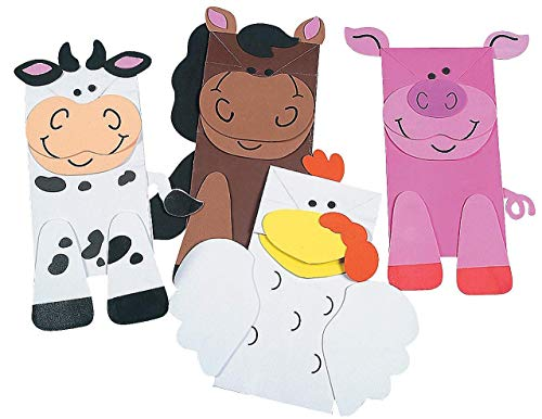 (Fun Express 12 Farm Animal Puppets Paper Bag Craft)