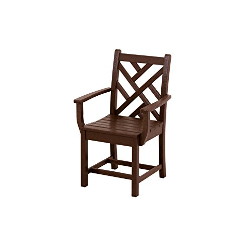 POLYWOOD CDD200MA Chippendale Dining Arm Chair, Mahogany