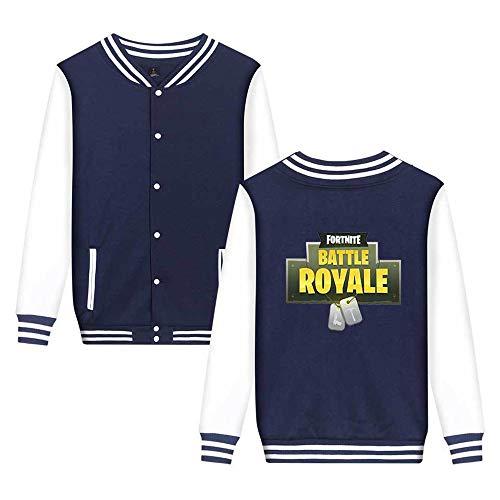 Casual Sweatshirts Semplice Unisex Blue3 Fortnite Moda Unicorno Aivosen Leggera Stampate Comode Da Baseball Giacca a0qW4w7