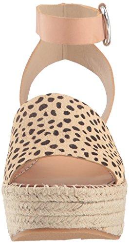 Leopard Dolce Sandal Calf Espadrille Hair WoMen Lesly Wedge Vita qnqv6wz
