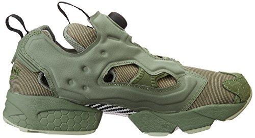 Reebok Mens Entry Pump Fury Mtp Hunter Verde Sneaker Verde