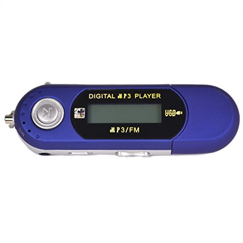 32GB MP3 WMA USB Music Player FM Radio With LCD Screen, Blue