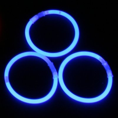 Kawin 200 Pulseras Luminosas Fluorescentes Color Azul