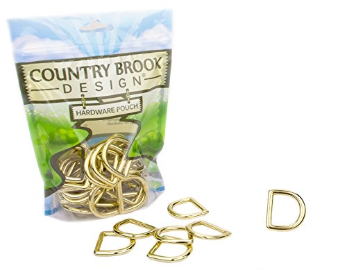 50-Country Brook Design | 1 Inch Solid Brass Die Cast Square Bottom D-Rings by Country Brook Design