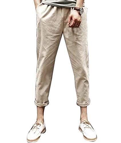 Cotone Unita Casual Comodi Lino Donna Con Leggero Di Estivi Huixin Coulisse Khaki Allentati Harem Pantaloni Da Skinny Tinta Spiaggia In BZwTnzUY