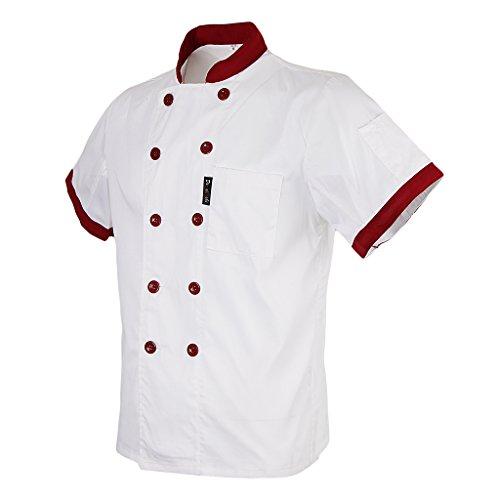 Coat Fityle Jacket Uniforme Chef Cocina Blanco Sleeves Unisex Short De Multicolor Mesh Air AAqHBaTFn