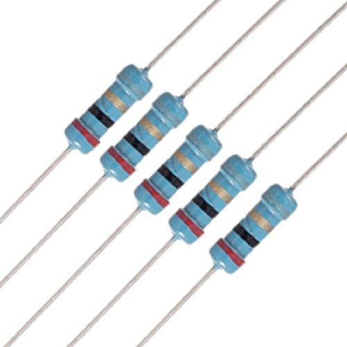 Uxcell a11102400ux0160 20 x 1/2W Watt 2 ohm 2R Carbon Film Resistor 0.5W ()