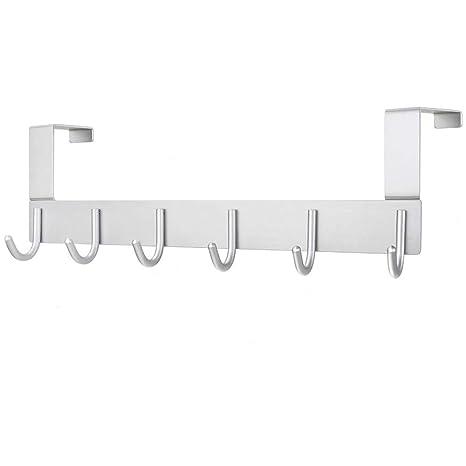 starvast para encima de la puerta gancho, 6 ganchos Perchero de puerta para uso pesado