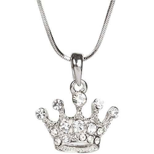 Heirloom Finds Crystal Crown Pendant Necklace on 16