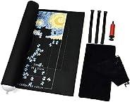Manta enrollable para rompecabezas de hasta 1500 piezas de juego y bolsa de almacenamiento de viaje