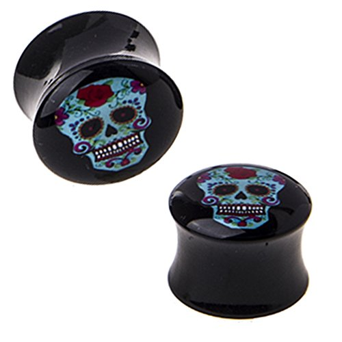 sugar skull plugs 0g - 2