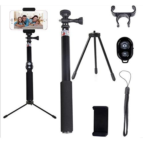 携帯電話カメラ三脚 ライブ放送サポート アウトドア ポータブル シュリンク 調節可能な三脚   B07KT3ZLCQ