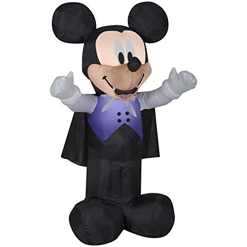 Disney Mickey & Friends 3.5-ft x 2.09-ft Lighted Mickey Mouse Halloween Inflatable 73557