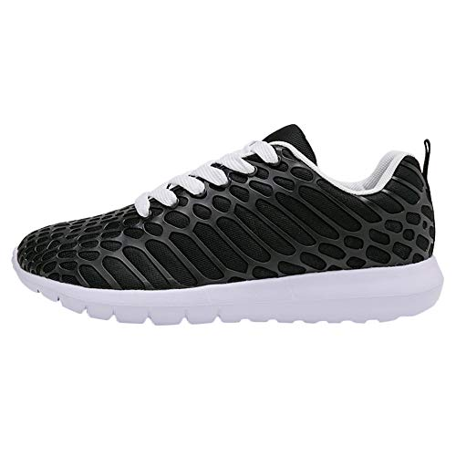 (OrchidAmor New Summer Men's Breathable Mesh Running Shoes Couple Sports Shoes Outdoor Running Sneakers Black)