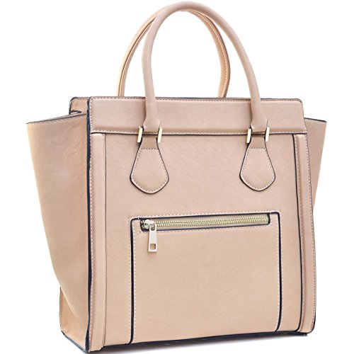 (Dasein Women's Handbags Satchel Bags Vegan Leather Handbags Tote Micro Luggage)