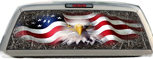 (American Eagle- Woodland Ghost Camo- 22 inches- by- 65 inches- Rear Window Graphic)