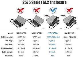 NVMe M.2 SSD a USB 3.1 Gen2 Caja de Carcasa con USB Tipo A Cable ...
