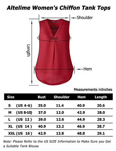 Altelime Blouse Shirts For Women, Summer Sleeveless Loose Casual Fit Chiffon Lounge Pleated Layered Tank Top Shirts Black XL by Altelime (Image #5)