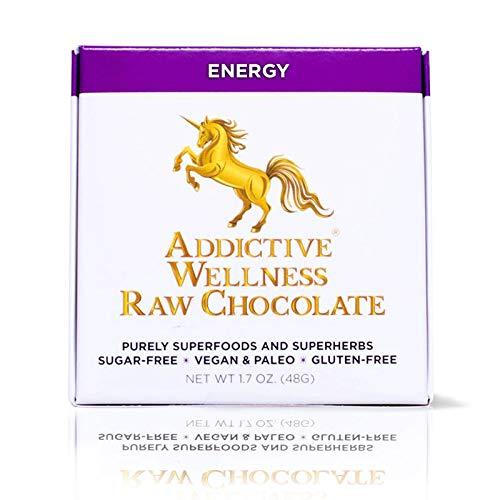 Addictive Wellness Sugar-Free Raw ENERGY Chocolate 3 PACK Vegan & Paleo - Purely Superfoods and Superherbs