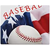 VvxXvx Wall Art Painting Official Major League Baseball with American Flag Prints On Canvas The Picture Landscape Pictures Oil for Home Modern Decoration Print Decor for Living Room