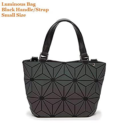 a9ad68c381c0 Amazon.com: Maelove Luminous Bag Women Geometry Diamond Tote Quilted ...