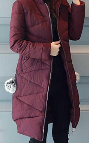 M Coat Womens amp;S amp;W Purple Length Quilted Overcoat Down Slim Jacket Hooded Mid Tr4Taqw
