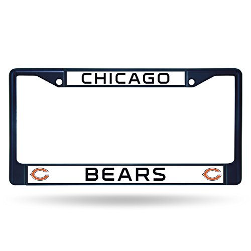 Rico Industries NFL Chicago Bears Team Colored Chrome License Plate Frame -