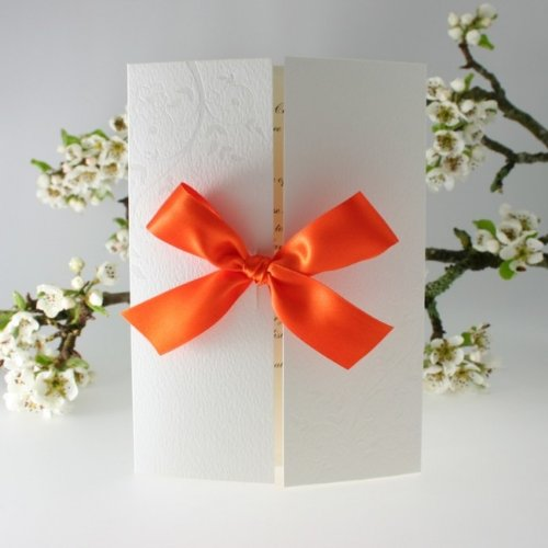 Orange Verona Gatefold Wedding Invitation DIY Kit