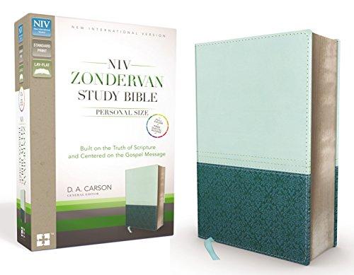 NIV Zondervan Study Bible, Personal Size, Imitation Leather, Light Blue/Turquoise