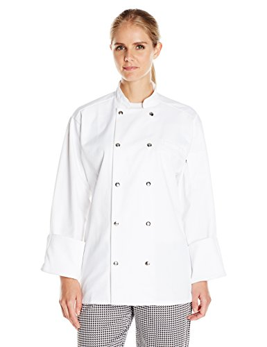 Uncommon Threads Unisex  Reaction Chef Coat 10 Snaps, White, Small by Uncommon Threads