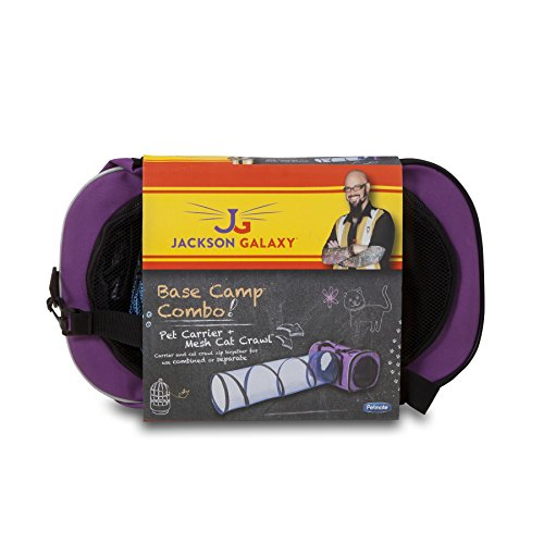 Petmate jackson galaxy base camp carrier with mesh tunnel for Jackson galaxy cat products