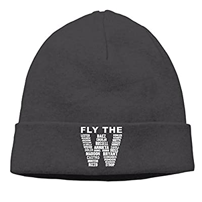FLY THE W Soft Funny Black Skull Hat Beanies Cap