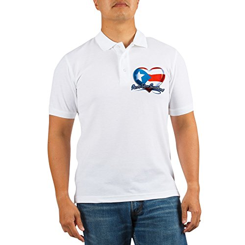 Royal Lion Golf Shirt Puerto Rican Sweetheart Rico Flag - -