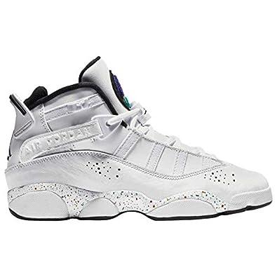 4617a92018c Amazon.com   Jordan 323419-100: Big Kids 6 Rings GS White/Black ...