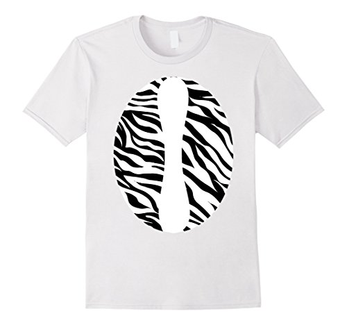 Simple Cosplay Costumes Ideas (Mens Zebra Print Jungle Theme Party Zoo Animal Costume T-Shirt Large White)